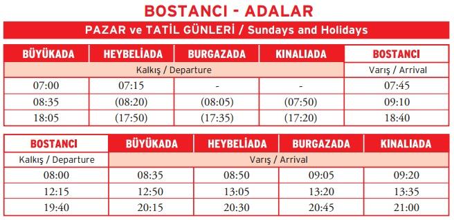 Bostancı-Adalar-HaftaSonu-Vapur Saatleri-2013-2014
