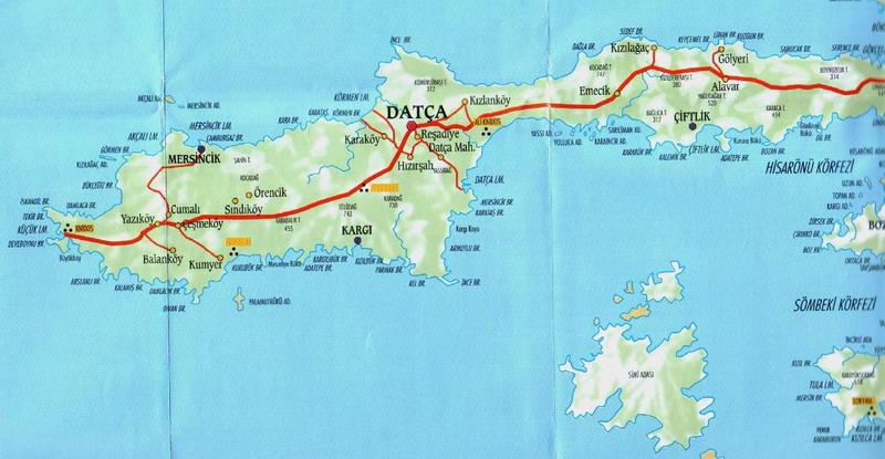datça haritasi