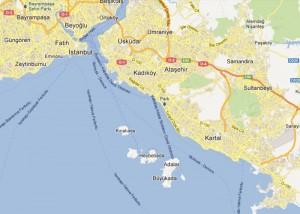İstanbul Adalar Haritası